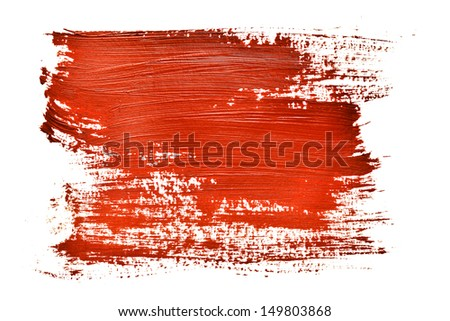 Red strokes on the white background