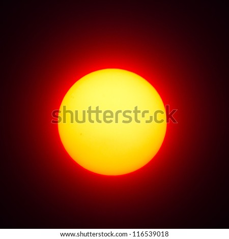 Red sun - stock photo