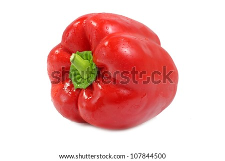 Red sweet pepper. Isolated on white background. - stock photo