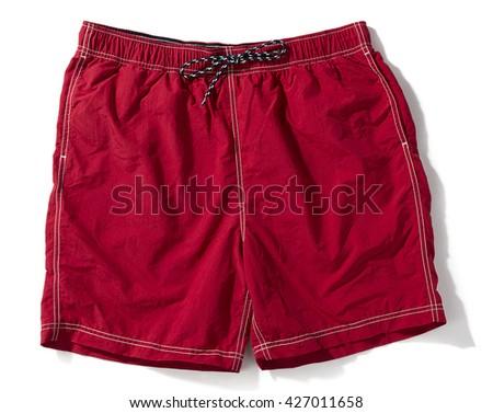 Red Swim Trunks  - stock photo