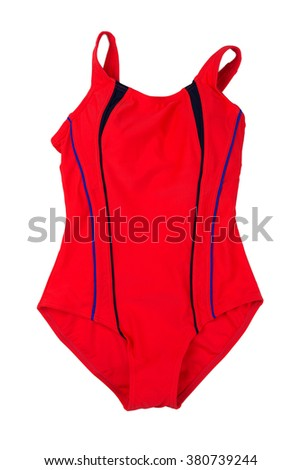 Red swimsuit fused. Isolate not white. - stock photo