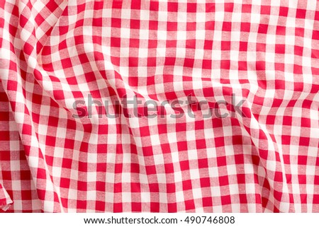 red table cloth background,crumpled fabric