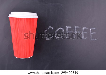Red Take Away Coffee Cup - stock photo