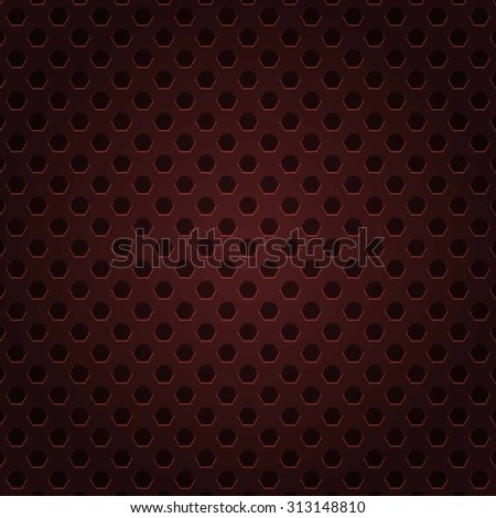 Red technology background with circle perforated plastic tions  and business presentations. Metal texture. grey metal background. Raster version - stock photo