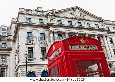 Red Telephone Booth - stock photo