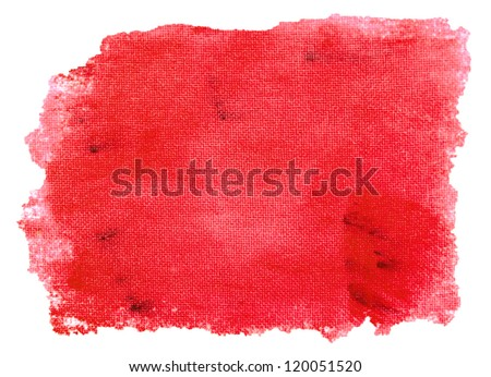red texture background isolated on a white - stock photo