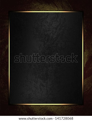red texture with black nameplate. Design template. Design for website - stock photo
