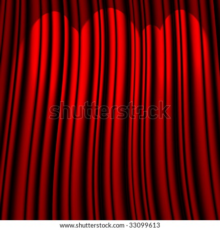 red theater curtain with three light sources