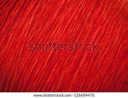 Red thread pattern. - stock photo