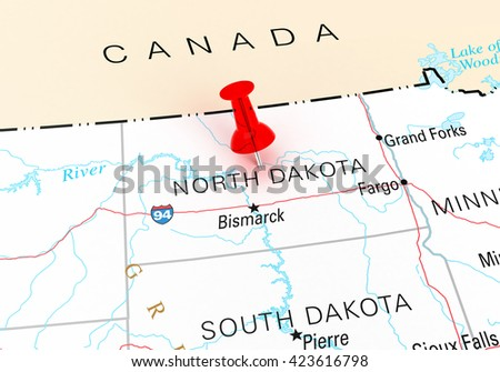 North Dakota Map Stock Images RoyaltyFree Images Vectors - North dakota rivers map