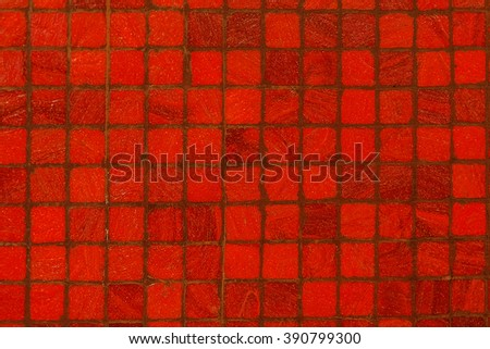 Red tile pattern - stock photo