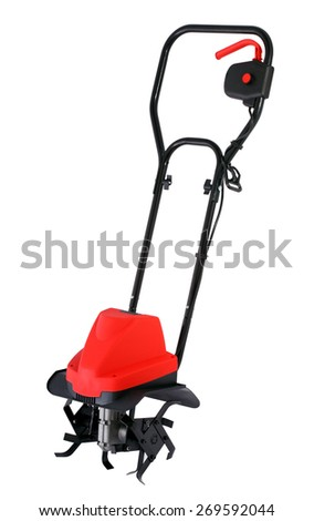 Red tiller isolated - stock photo