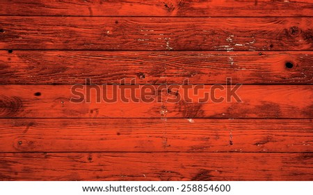 Red timber wooden background - stock photo