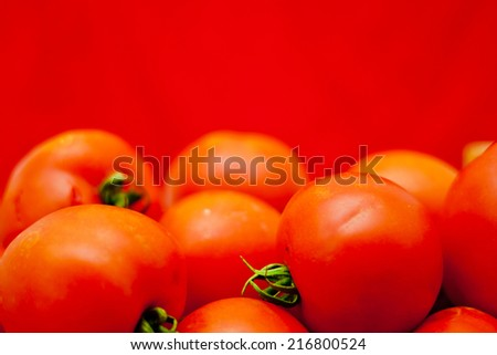 red tomato - stock photo