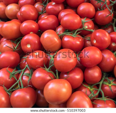 Red tomatoes for background