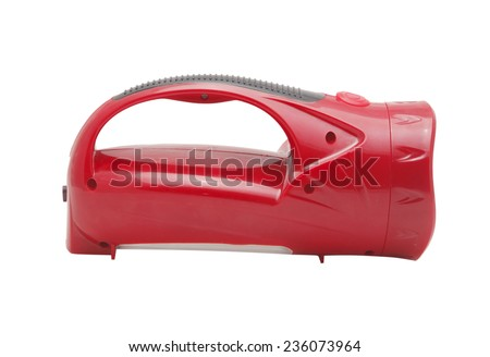 Red torch light on white background