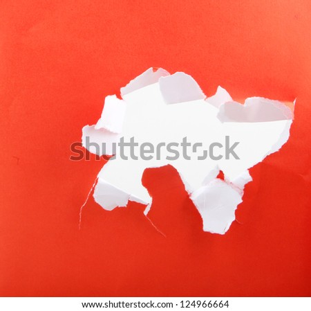 red torn paper - stock photo
