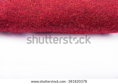 Red towel over white background. - stock photo