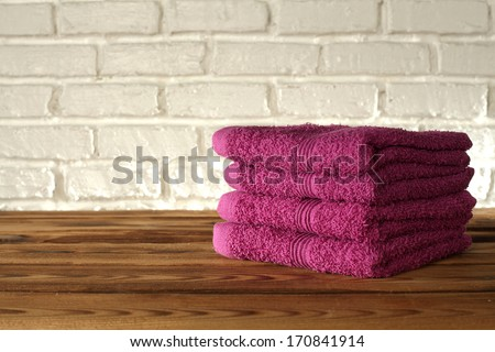 red towels  - stock photo
