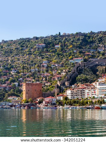 Red Tower( kizil kulesi), the main tourist attraction in the Turkish city of Alanya