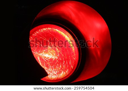 Red traffic light - stock photo