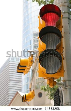Red Traffic LIght (Release Information: Editorial Use Only. Use of this image in advertising or for promotional purposes is prohibited.) - stock photo