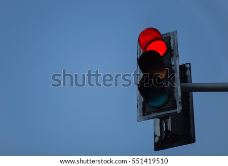 Red traffic lights background.