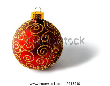 Red tree ornament