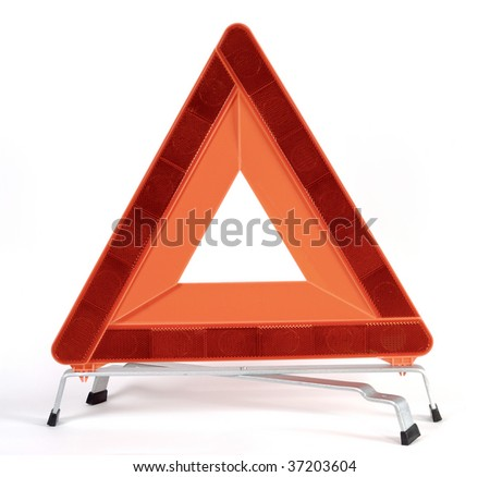 Red triangle road safety