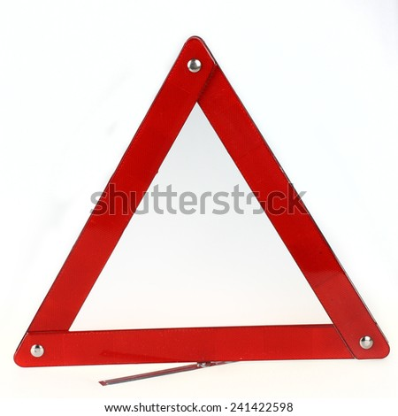 Red triangle sign