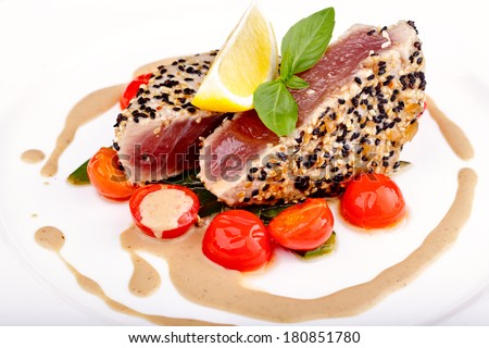 Red tuna steak - stock photo