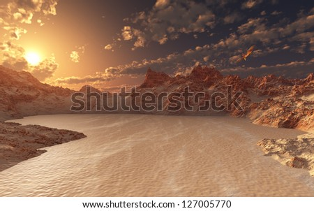Red Valley - stock photo