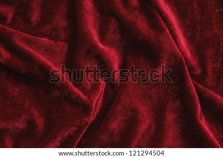 Red velvet as abstract background. - stock photo