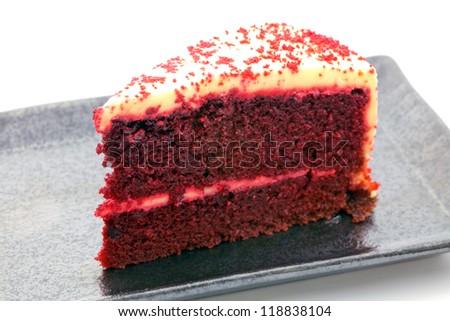 red velvet cake - stock photo
