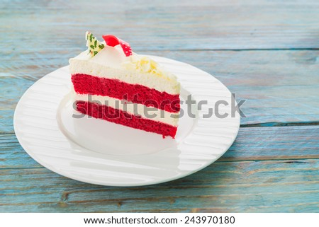 Red velvet cakes - stock photo