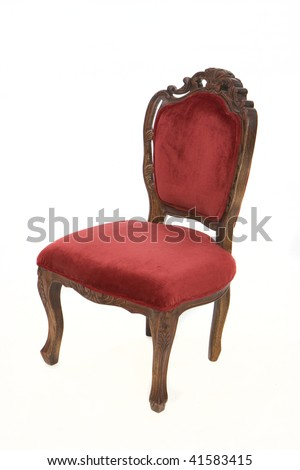 Red Velvet Chair - stock photo