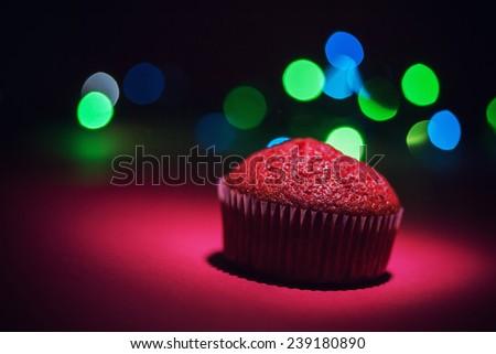 Red velvet cupcake - stock photo