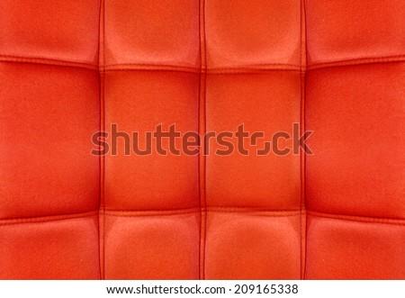 Red Velvet texture from sofa - stock photo