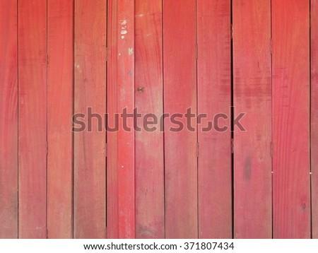 Red wall door fence - stock photo