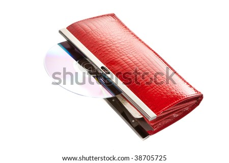 red wallet isolated on white