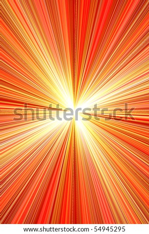 red wallpaper illustration with geometric shapes and rays