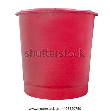 red water fiberglass tank isolated on white background,clipping path