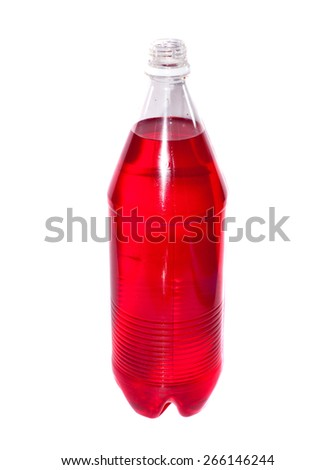 Red water in bottle - stock photo