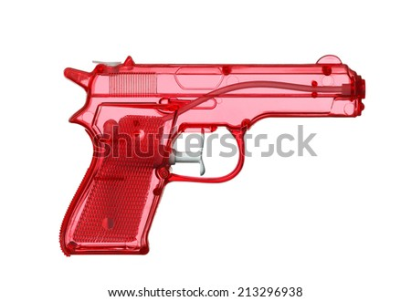 Red Water Pistol - stock photo