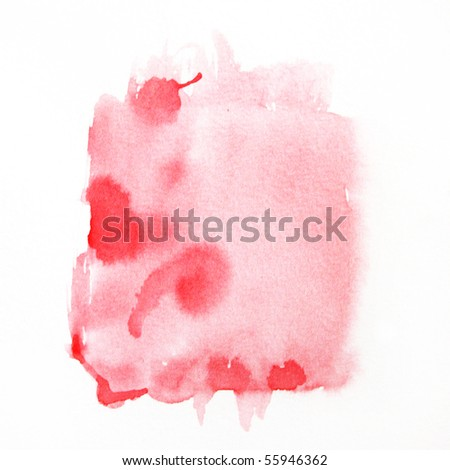 red watercolor - stock photo