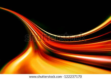 red wave - stock photo