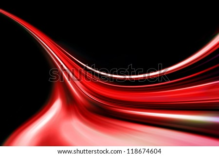 red wave up direction - stock photo