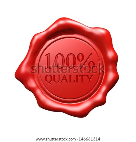 Red Wax Seal - 100% Quality - stock photo