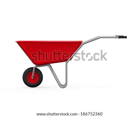 Red Wheelbarrow - stock photo