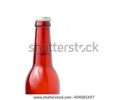 red Whisky Bottle isolated on white background